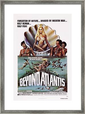 Beyond Atlantis, Us Poster Art, 1973 Framed Print by Everett