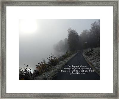 Beyond Ideas - Rumi Framed Print by TwinSoul Eyes