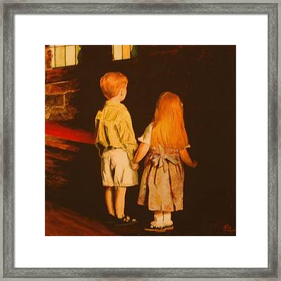 Framed Print featuring the painting Beyond by Rick Fitzsimons