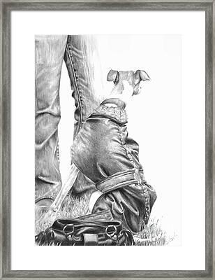 Beyond Framed Print by Sheona Hamilton-Grant