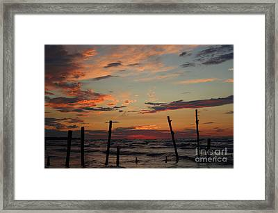 Framed Print featuring the photograph Beyond The Border by Barbara McMahon