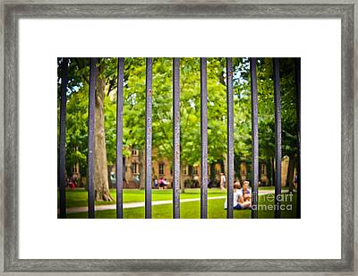 Beyond The Campus Gates Framed Print by Colleen Kammerer