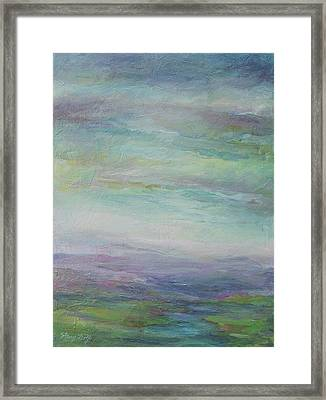 Beyond The Distant Hills Framed Print