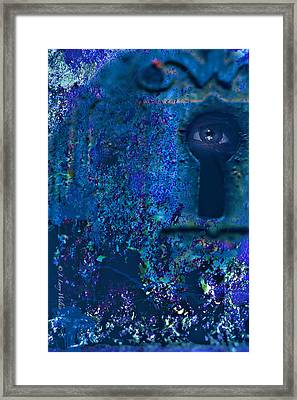 Beyond The Door - Abstract Framed Print by J Larry Walker