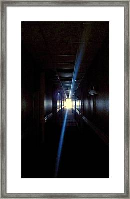 Beyond The Doors Of The Dark Framed Print