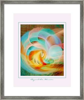 Beyond The Illusion Framed Print by Gayle Odsather