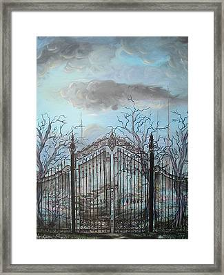 Beyond The Iron Gates Framed Print