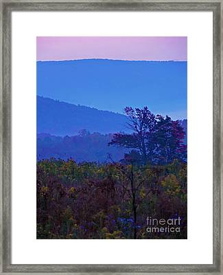 Beyond The Last Mountain Framed Print