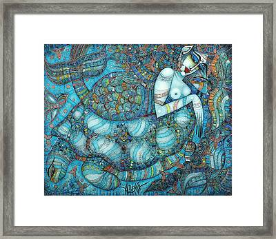 Beyond The Oceans... Framed Print