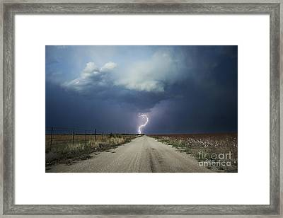 Beyond The Open Road Framed Print