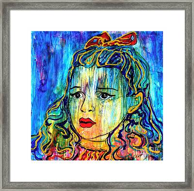 Framed Print featuring the painting Beyond The Rain by D Renee Wilson