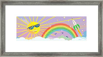 Framed Print featuring the mixed media Beyond The Rainbow by J L Meadows