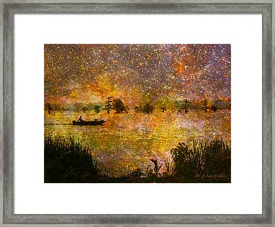 Beyond The Reeds Framed Print