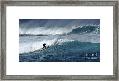 Beyond The Reef Framed Print by Bob Christopher
