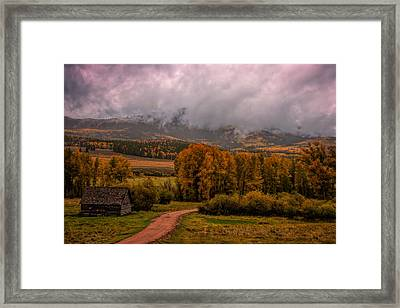 Framed Print featuring the photograph Beyond The Road by Ken Smith