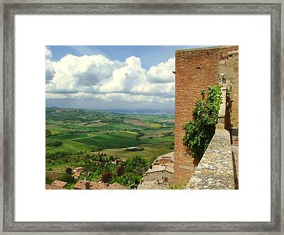 Beyond The Rooftops 2 Framed Print by Ellen Henneke
