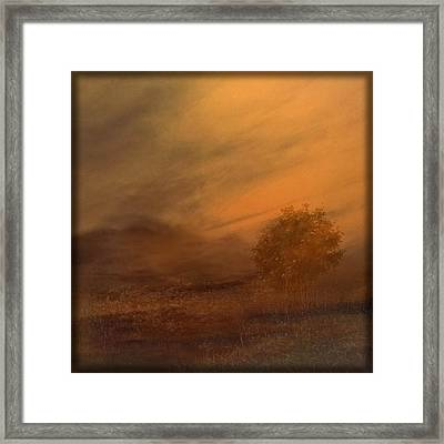 Beyond The Rowan Tree Framed Print by Liz  Alderdice