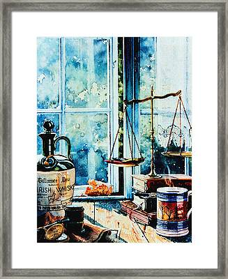 Beyond The Shadow Of Doubt Framed Print by Hanne Lore Koehler