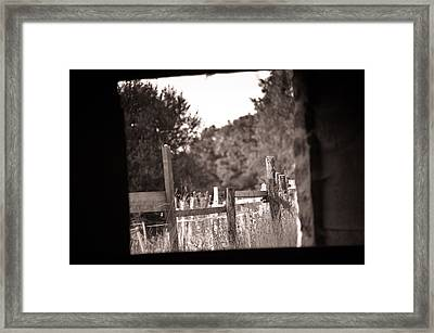 Beyond The Stable Framed Print by Loriental Photography