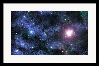 Beyond The Solar System Digital Art Framed Prints