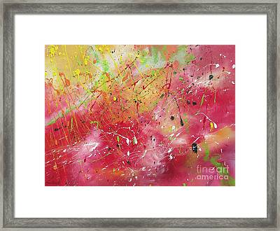 Framed Print featuring the painting Beyond The Universe by Nereida Rodriguez