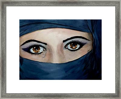 Beyond The Veil Framed Print by Michal Madison