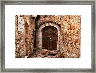 Door In Jerusalem Framed Print