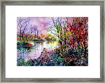 Beyond Tree And Pond Framed Print