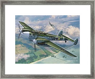 Bf-110 Zerstorer Framed Print