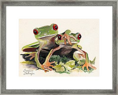 Bff Froggies Framed Print