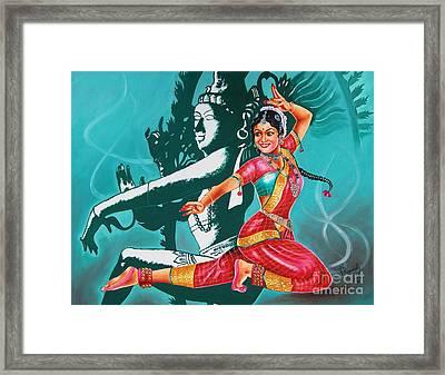 Bharatanatyam Framed Print