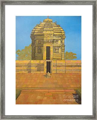 Bhaskareshwar- Shiva Temple Framed Print