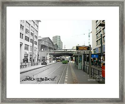 Bhf. Friedrichstrasse  - Berlin Is The Place...series Framed Print