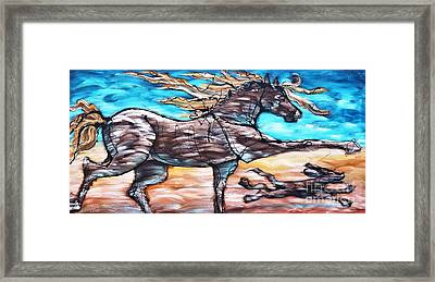 Bhound To Get There Framed Print