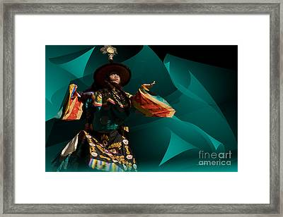 Bhutanese Festival Framed Print
