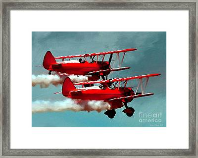 Bi-planes Framed Print by Jerry L Barrett