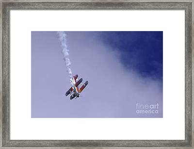Bi Wing Stunt Plane Framed Print