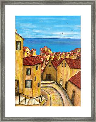 Biagi In Tuscany Framed Print by Pamela Allegretto