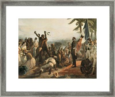 Biard, Fran�ois Auguste 1799-1882. The Framed Print by Everett