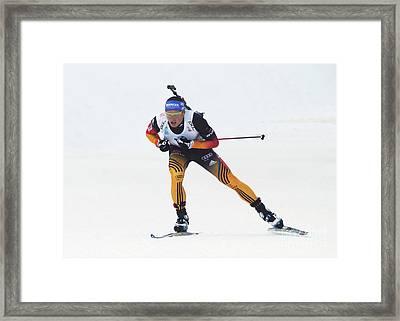 biathlete Erik Lesser Germany Framed Print