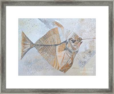 Framed Print featuring the painting Bibanul  by Delona Seserman