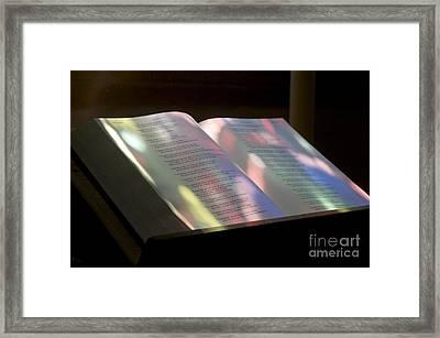 Bible Framed Print by Bernard Jaubert