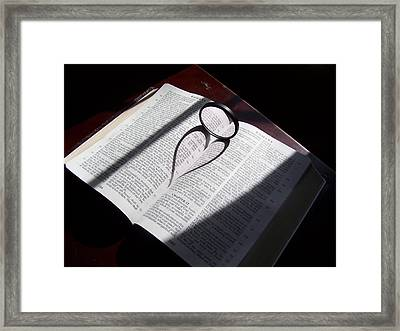 Bible Heart Framed Print by Donnell Carr
