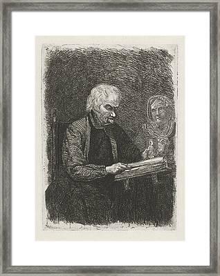 Bible Reader, David Van Der Kellen II Framed Print