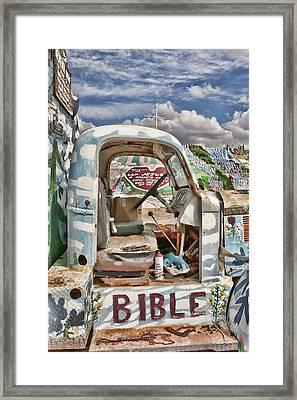 Bible Truck Framed Print by Hugh Smith