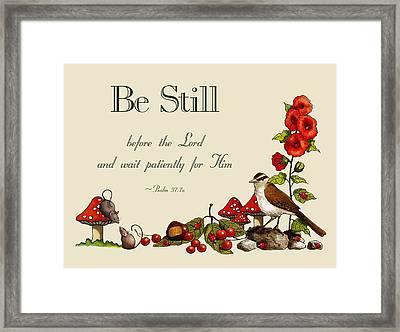 Bible Verse And Nature Art Framed Print