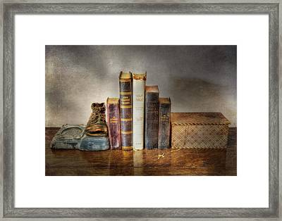 Bibles And Hymnbooks Framed Print by David and Carol Kelly