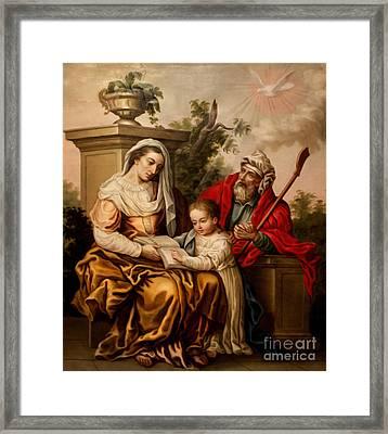 Biblical Instruction Framed Print by Al Bourassa