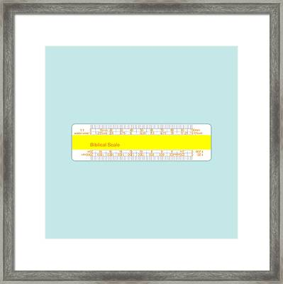 Biblical Scale Framed Print by Peter Cassidy