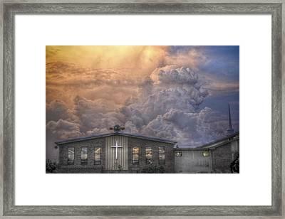 Biblical Sunset Framed Print by Trish Tritz